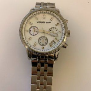 Silver Michael Kors Analog Watch